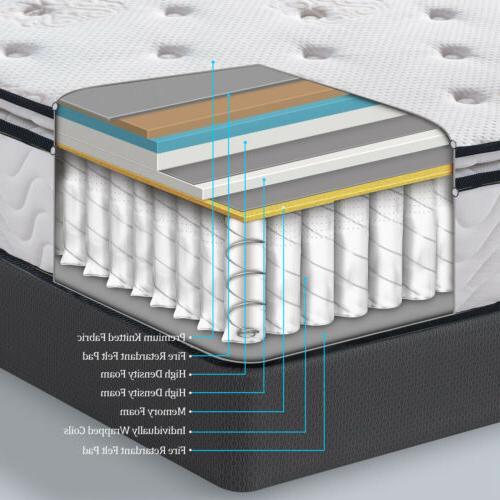 Memory Foam Bed 10.5 Inch Hybrid Mattress