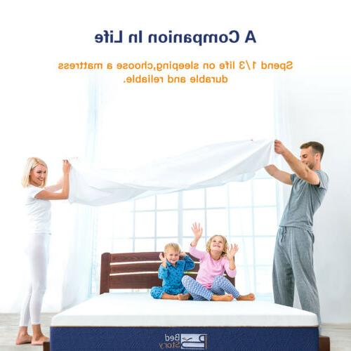 BedStory Gel Mattress 12Inch CertiPUR-US FULL KING CK New