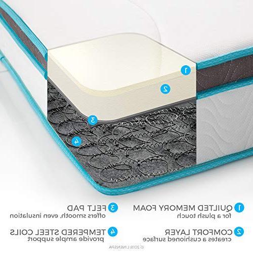 Linenspa 10 Foam and Innerspring Hybrid Mattresses Feel -