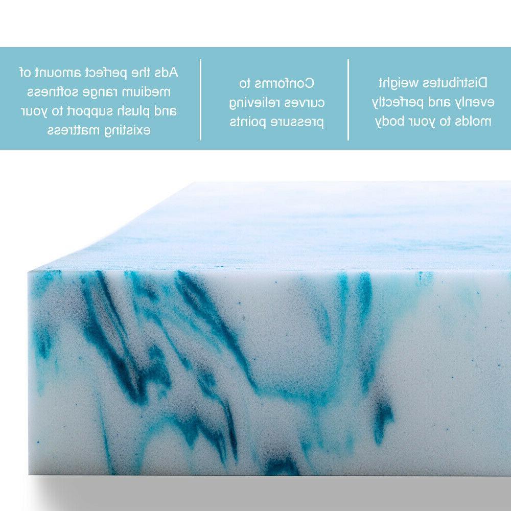 Memory Foam Mattress Topper 2.5/3/4 Lavender Queen