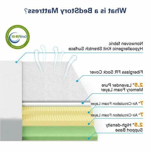 BedStory Modern 10 inch Spring Foam Bed KING-Size NEW