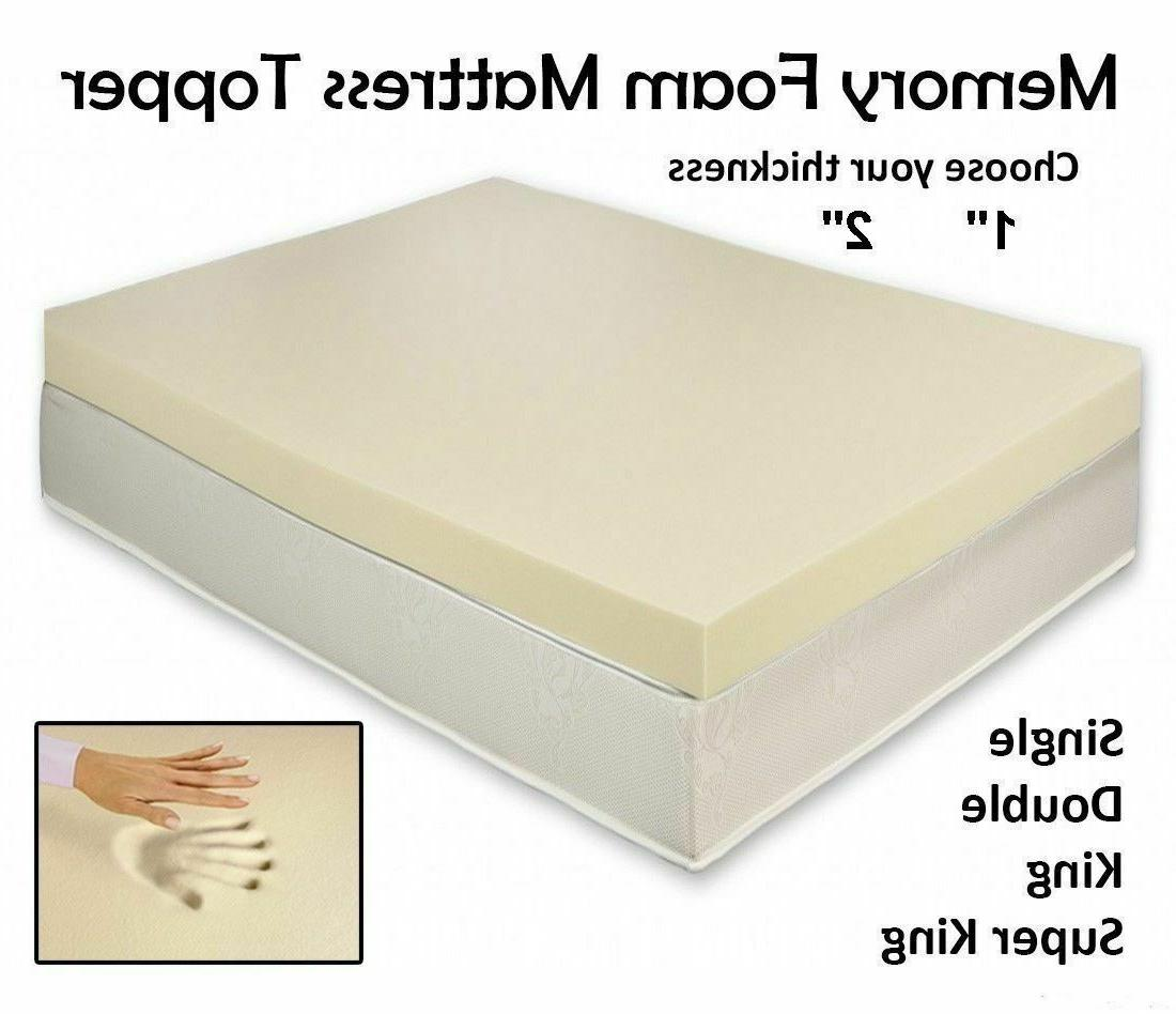 QUALITY Memory Foam Mattress Topper All Depth and Sizes Memo