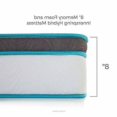 LINENSPA 8 Inch Memory Foam Innerspring Hybrid Mattress FAST SHIPPING