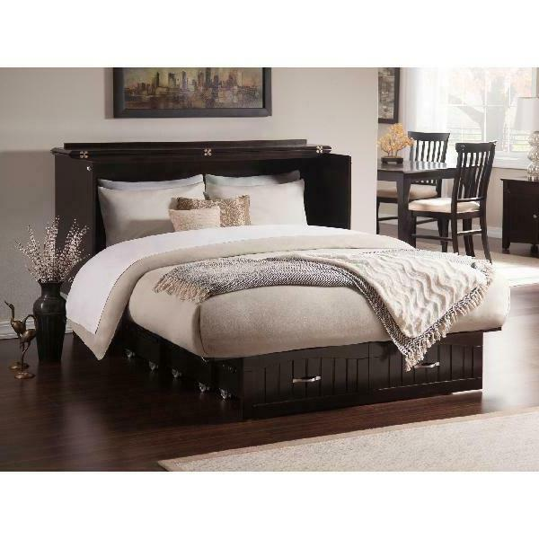 Space-Saving Premium Queen Twin Storage Bed w/Folding Memory