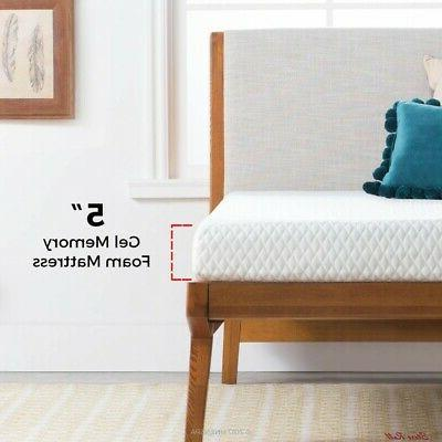 Twin Size Mattress Memory Foam Thick Soft Home Indoor 5 Inch