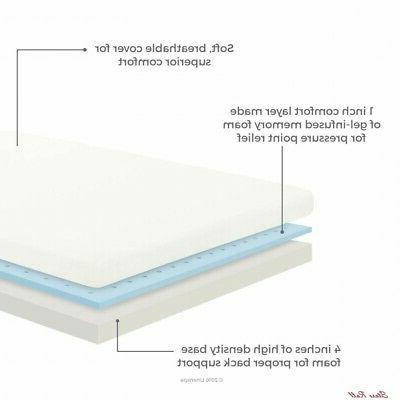 Twin Mattress Memory Thick Home Inch LINENSPA
