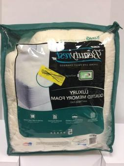 BEAUTYREST Luxury Quilted Memory Foam Mattress Pad KING NEW
