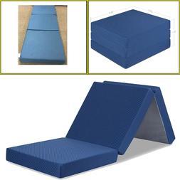 MEMORY FOAM MATTRESS 4 Inches Tri Folding Removable Cover Po