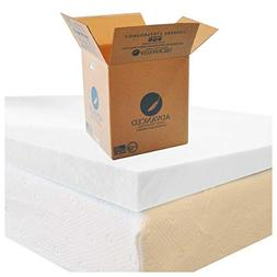 California King Memory Foam Mattress Topper, USA Made, Certi