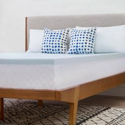 Memory Foam Mattress Topper Queen Size Bed Gel Infused Soft