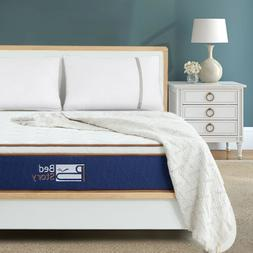 BedStory Modern 10 inch Spring Mattress Gel Memory Foam Bed