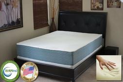"New Casper Williams 12"" Cloud Gel Memory Foam Mattress Bed Q"