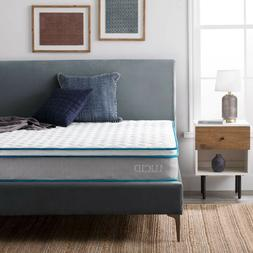 LUCID Nimble 9 inch Innerspring and Memory Foam Mattress - T
