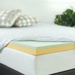 SALE 3 Inch Green Tea Memory Foam Mattress Topper, Full Home