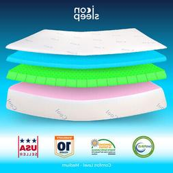 "10"" Cool & Gel Memory Foam Mattress RV Camper Trailer Short"