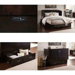 Space-Saving Premium Queen Twin Storage Bed Chest w/Folding