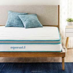 "Linenspa Spring and Memory Foam Hybrid Mattress, 8"", Size"