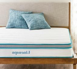 """8"""" Spring and Memory Foam Queen Mattress in box by LINENSPA"""