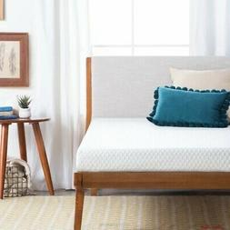 Twin Size Mattress Gel Memory Foam Thick Soft Home Indoor Wh