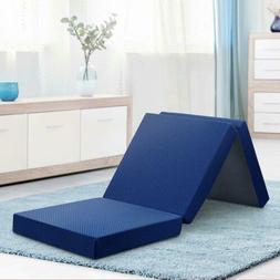 Olee Sleep VC04TM02S-N Tri-Folding Memory Foam Mattress Topp